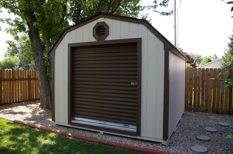 Shed plans designs classic barns stor mor sheds idaho for 12x12 overhead garage door