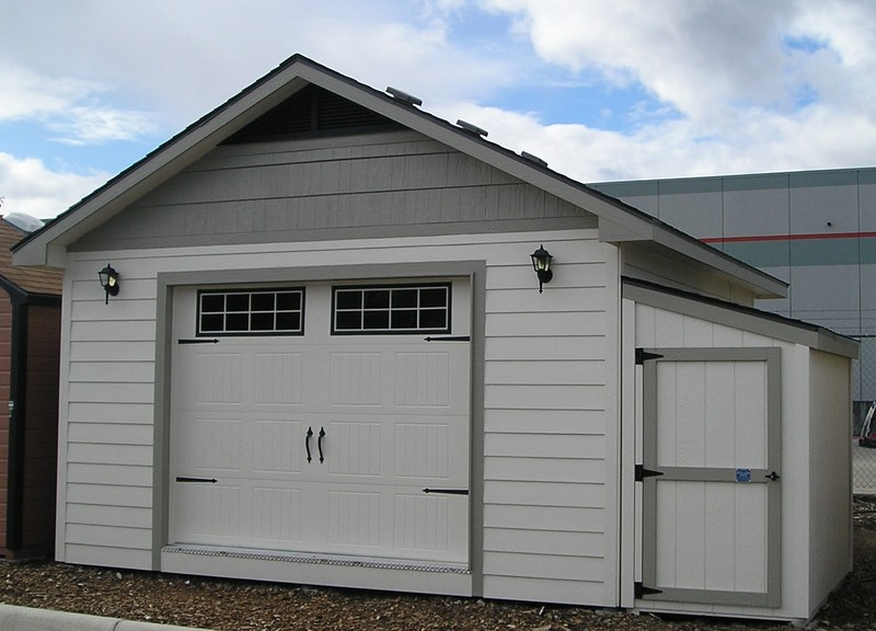 Outdoor shops and garages stor mor sheds idaho for Lean to addition to garage
