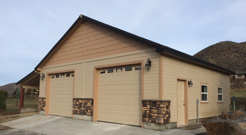 Outdoor shops and garages stor mor sheds idaho for Garage with shop