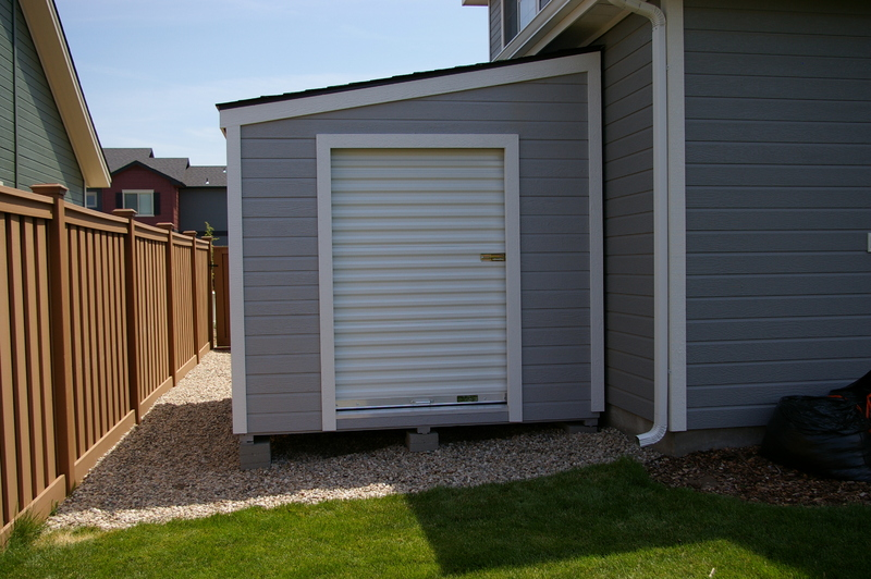 how to build a storage shed on side of house